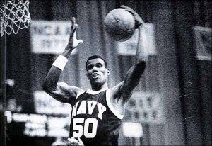 David Robinson hook shot at the Naval Academy