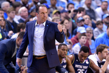 Mike Brey at the ACC Tournament in Feb 2017 (Source: Grant Halverson/Getty Images North America